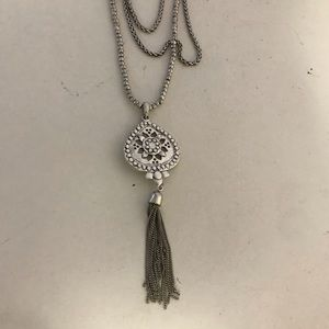 Lucky Brand triple tier necklace with pendant
